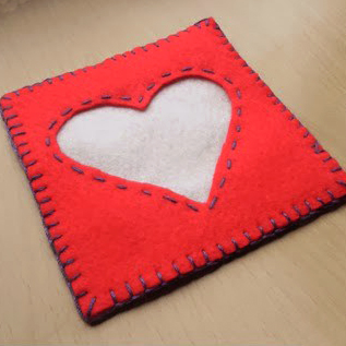 Heart Felt Coaster Tutorial