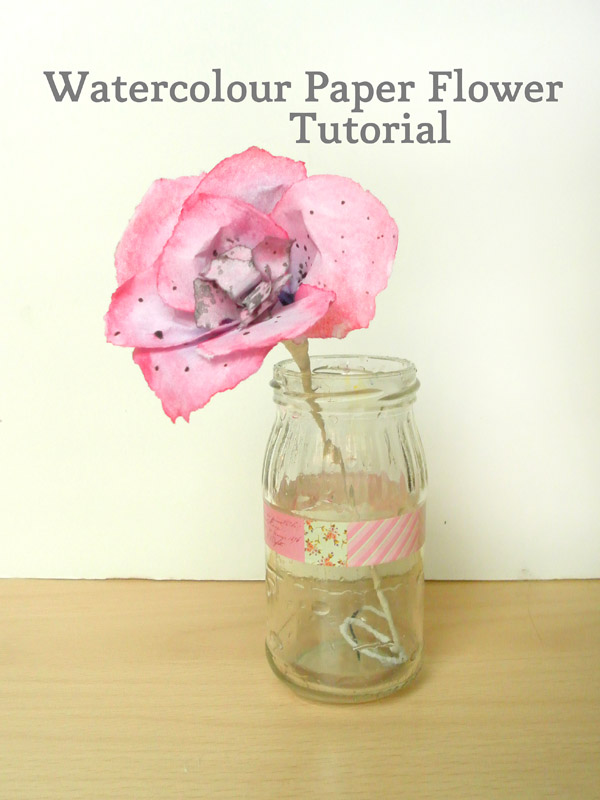 watercolour paper flower tutorial