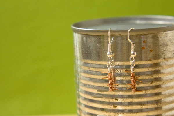 DIY Barbed Wire Earrings