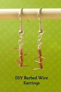 DIY Barbed Wire Earrings