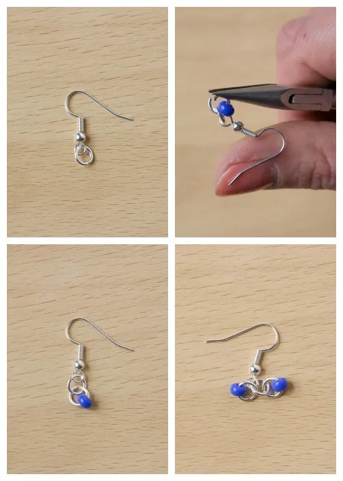 DIY seed bead earring tutorial