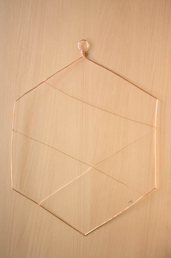 Copper Hexagon Memo Notice Board