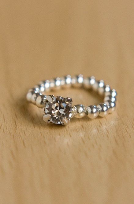 Easy Elastic Sparkly Ring Tutorial DIY