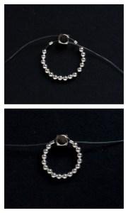Easy Elastic Sparkly Ring Tutorial DIY