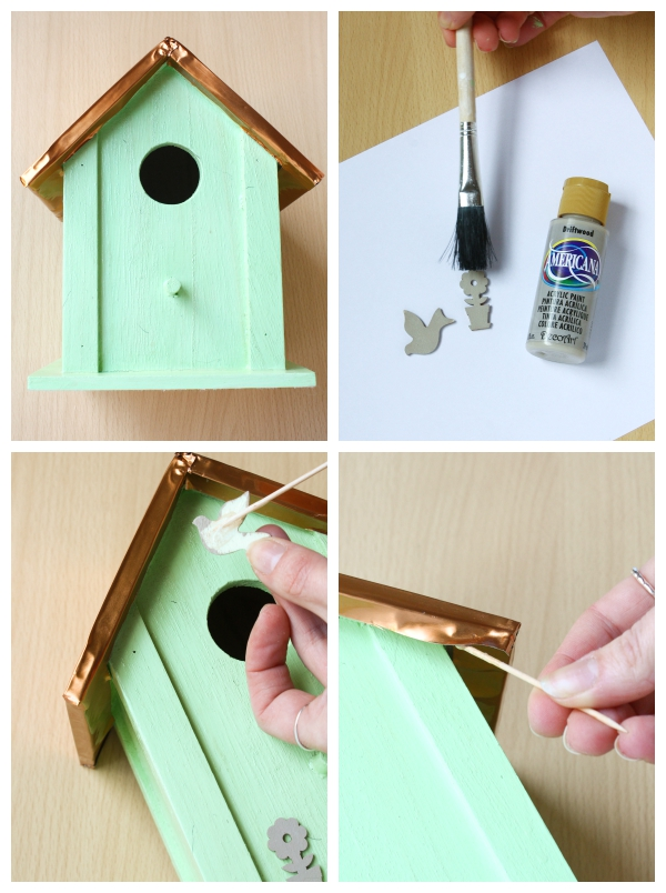 DIY Painted Bird House Tutorial Upcycle