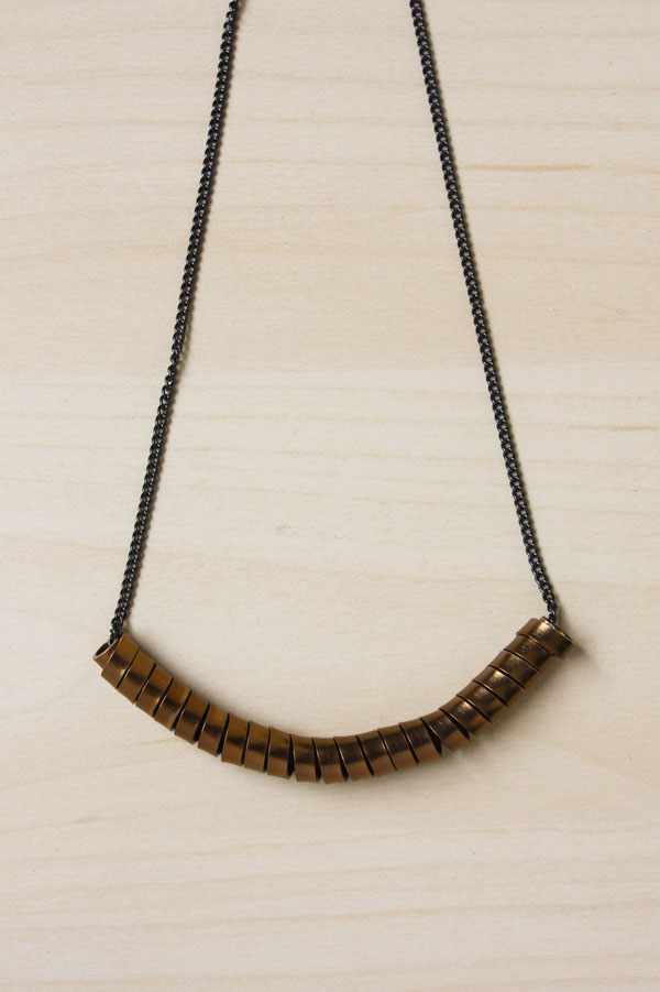 Coiled Flat Wire Cure Necklace