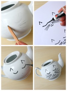 DIY Cat Face Teapot