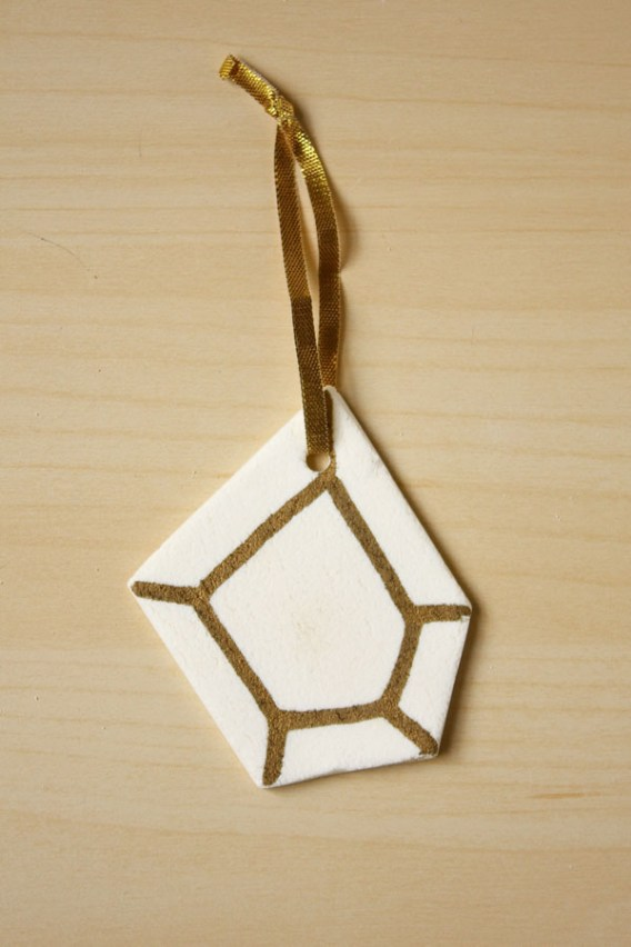 Geometric Clay Decorations
