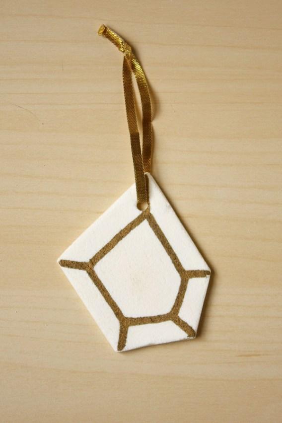 Geometric Clay Decorations