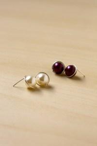 DIY Pearl Stud Earrings - Make and Fable