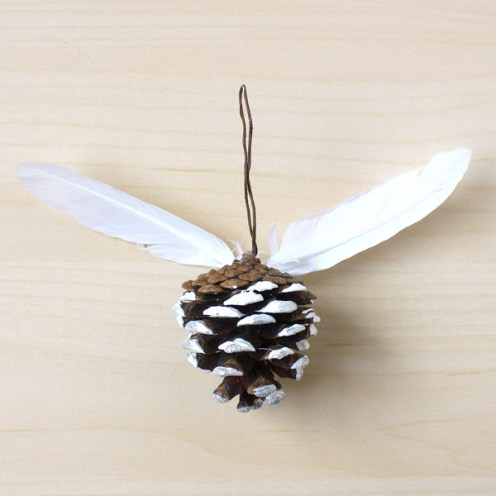 Pine Cone & Feather Decorations