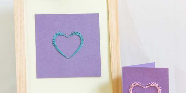 Paper Stitched Heart