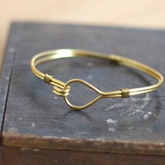 Brass Wire Bangle DIY