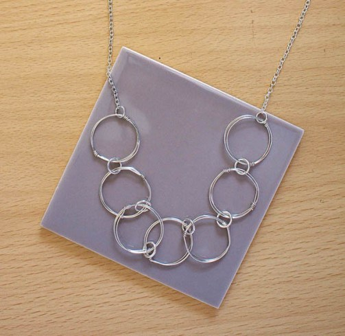Wire link Chain Necklace DIY Tutorial