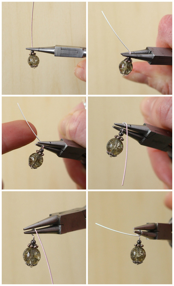 Tutorial using bead caps and spacers to make earrings. Includes step by step how to make a wrapped loop!