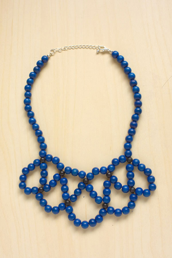 Beaded Statement Collar Necklace - Make and Fable