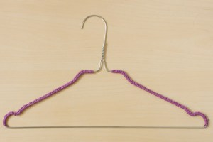 Yarn Covered Clothes Hanger DIY
