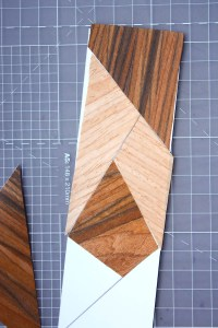 Faux Marquetry Wood Bookmark