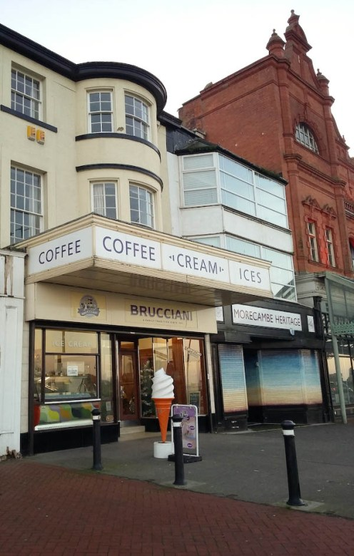 Brucciani's cafe in Morecambe
