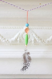 Easter Decorations with Feathers and Beads