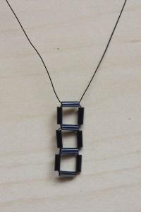 Geometric Cube Necklace DIY Tutorial