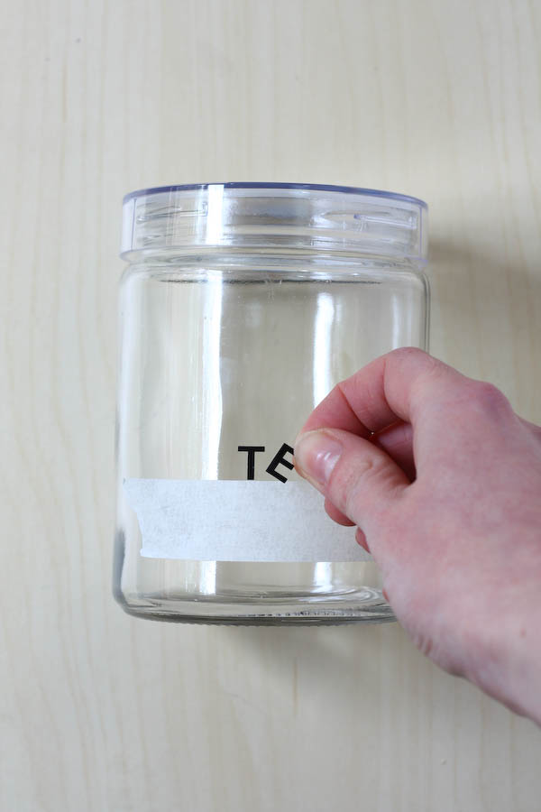 Spray Painted Kitchen Storage Jar Diy