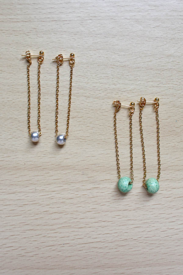 Chain Earrings DIY