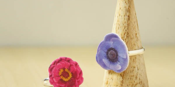 Floral Shrink Plastic Ring DIY