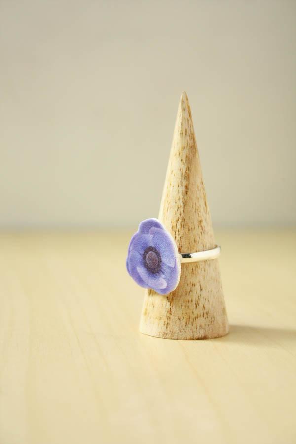 Shrink Plastic Flower Ring DIY