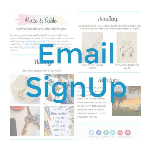 Make and Fable Email Signup