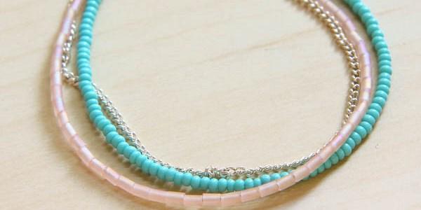 Summer Seed Bead Bracelet DIY Tutorial