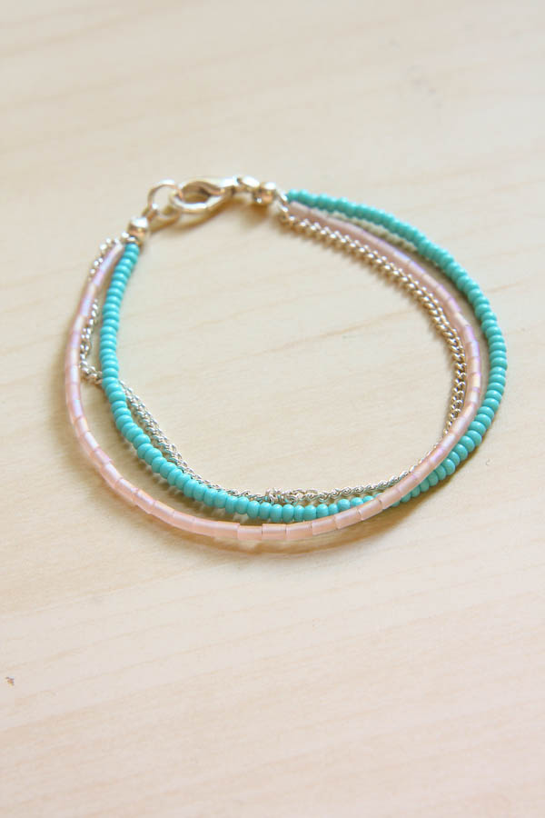 Summer Seed Bead Bracelet Diy Tutorial
