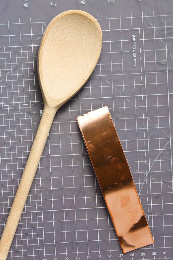 DIY Copper Kitchen Utensils - add copper details to plain