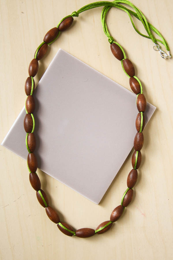 Autumn Bead Necklace DIY Tutorial by Make and Fable