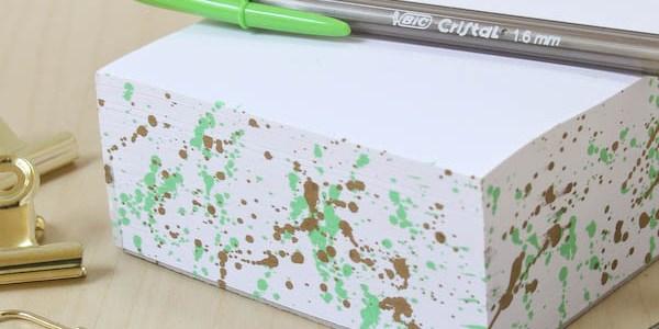 Painted Edge Notepad DIY