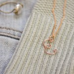 Wire Monogram Necklace DIY Tutorial by Make and Fable