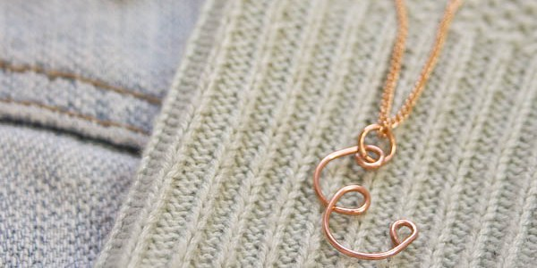 Wire Monogram Necklace DIY