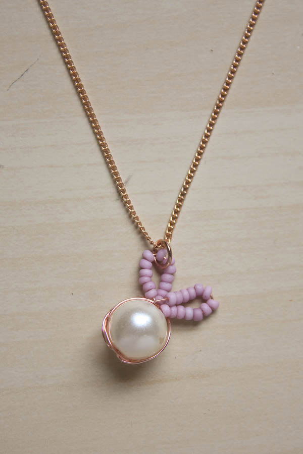 Bead Bunny Necklace DIY Tutorial by Make and Fable