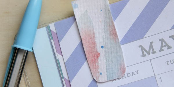Painted Magnetic Bookmark DIY