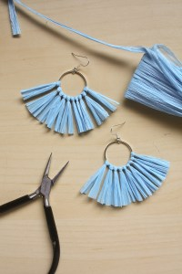 Raffia Earring DIY Tutorial by Make and Fable