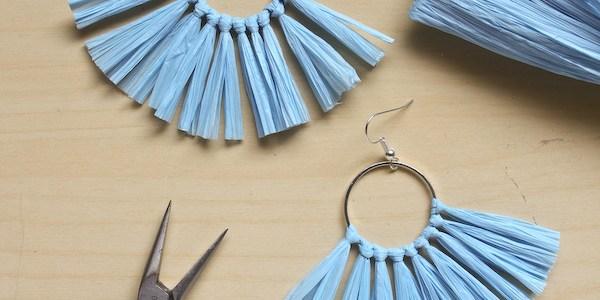 Raffia Tassel Earring DIY