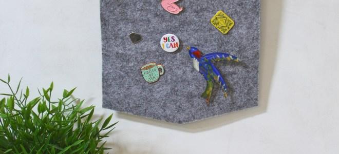 Enamel Pin Banner DIY