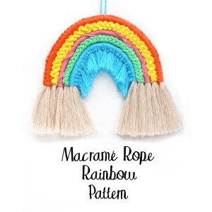 Macrame Rope Rainbow Pattern