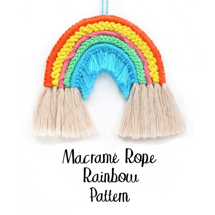 Macrame Rope Rainbow Pattern