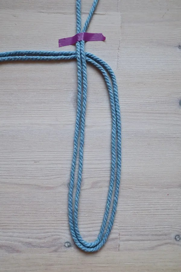 Macrame Braid Necklace Tutorial by Make and Fable