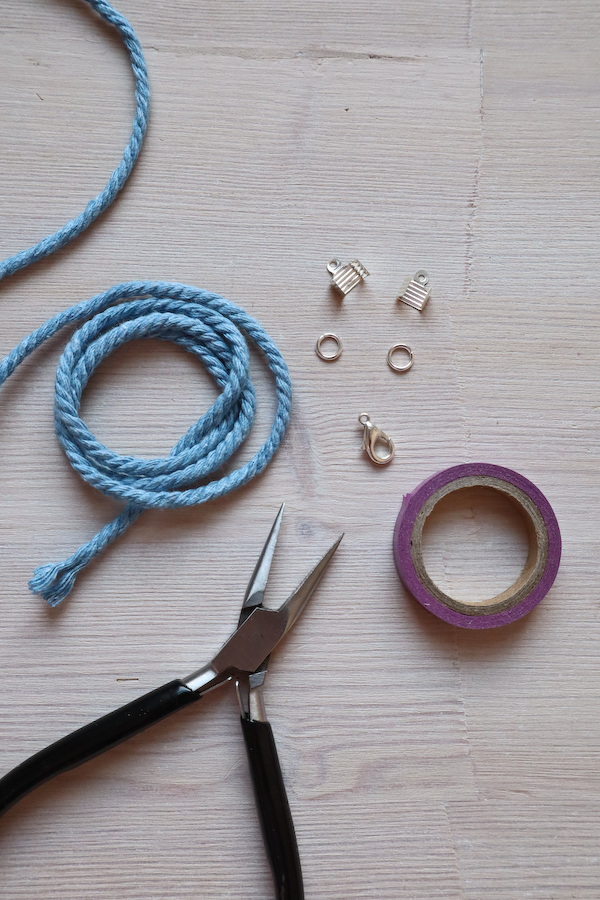 Macrame Braid Necklace Tutorial by Make and Fable 13