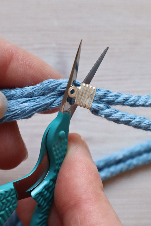 Macrame Braid Necklace Tutorial by Make and Fable 17
