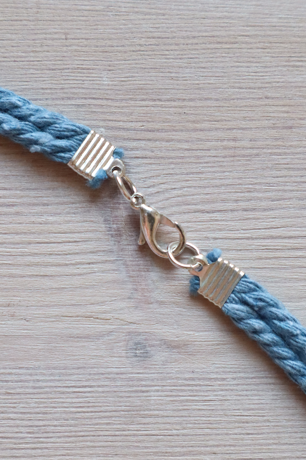 Macrame Braid Necklace Tutorial by Make and Fable 19