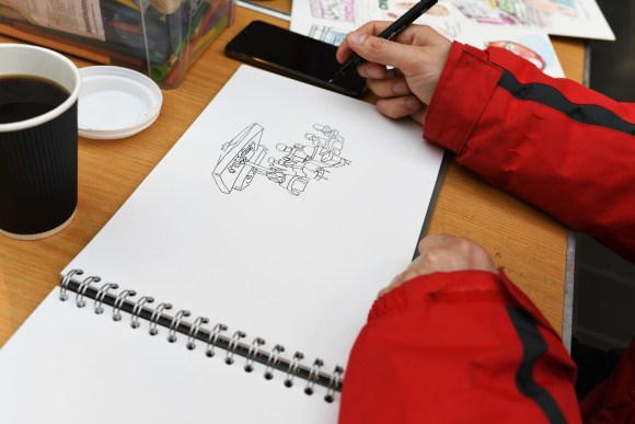 sketching - Make & Print Market in the Grainger Market Photograph by Holly Wheeler 2019