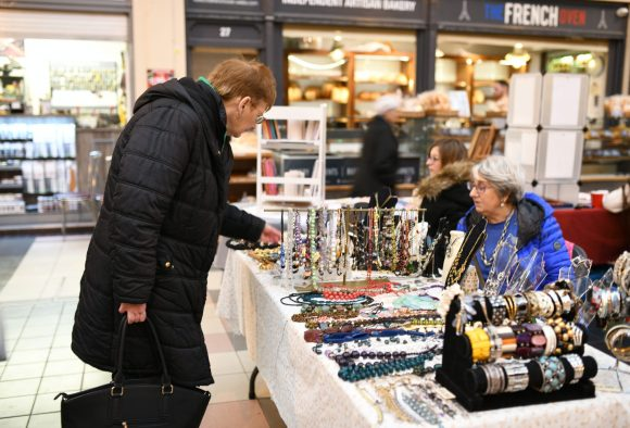 Recycled Jewellery - Make & Mend Market in the Grainger Market Photograph by Holly Wheeler 2018